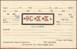 Arthur Collins 9CXX QSL card