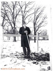 Arthur Collins Breaking Ground at 1952 Bldg Site