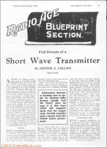 Arthur Collins May 1926 Radio Age Article pg1