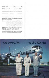 Arthur Collins W0CXX/M mobile QSL From Polar Expedition outside view