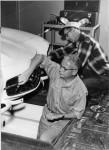 Arthur Collins Working in garage