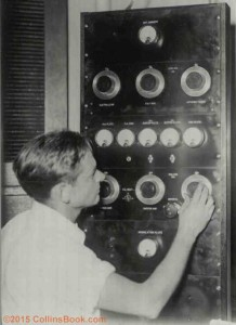 Byrd Testing Collins Radio Transmitter