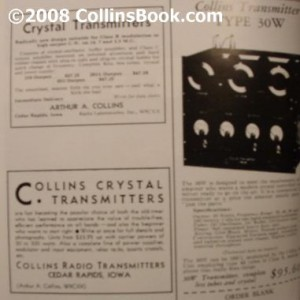 Collins Radio Book Early Radio Ads