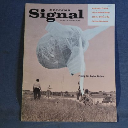 Collins Radio Signal November 1960 Cover