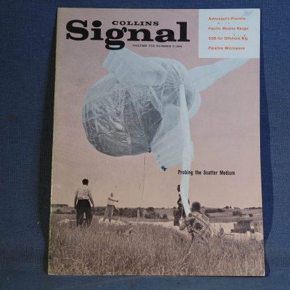 Collins Radio Signal November 1960 Cover